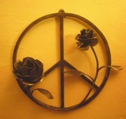 Peace Symbol with roses